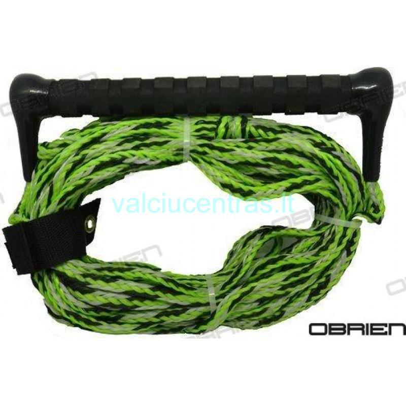 OBRIEN tempimo virvė su rankena žalia/juoda