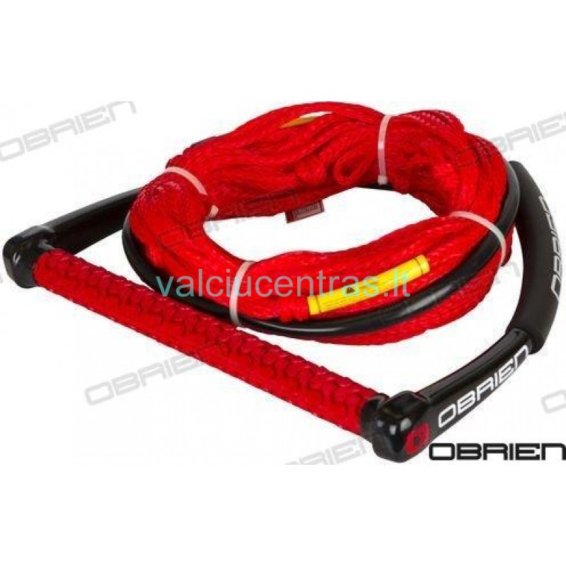 OBRIEN tempimo virvė su rankena raudona