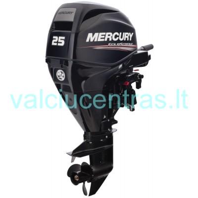 Mercury F25 M EFI su tiesioginiu įpurškimu, nereikalingas laivavedžio pažymėjimas