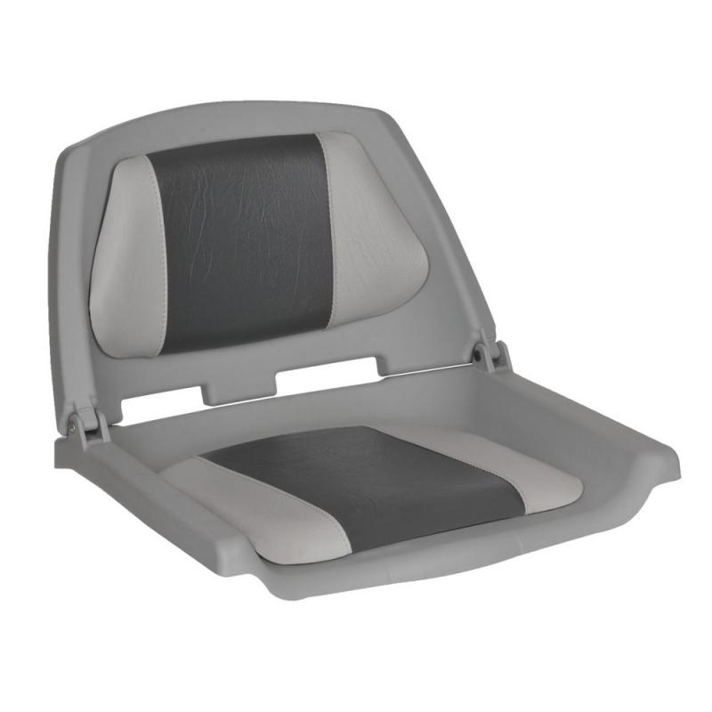 Plastikinė sėdynė su paminkštinimu pilka