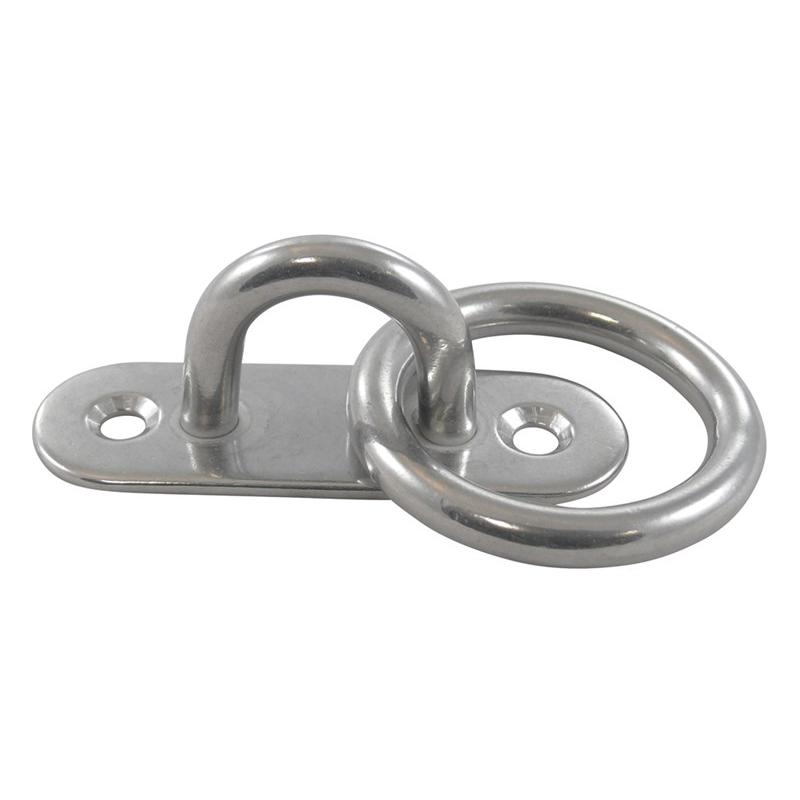 Nerūdijančio plieno kilpa su žiedu