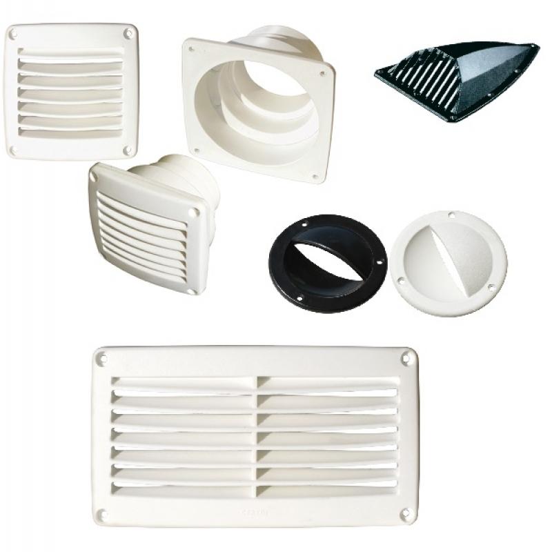 Plastikinės ventiliacinės grotelės