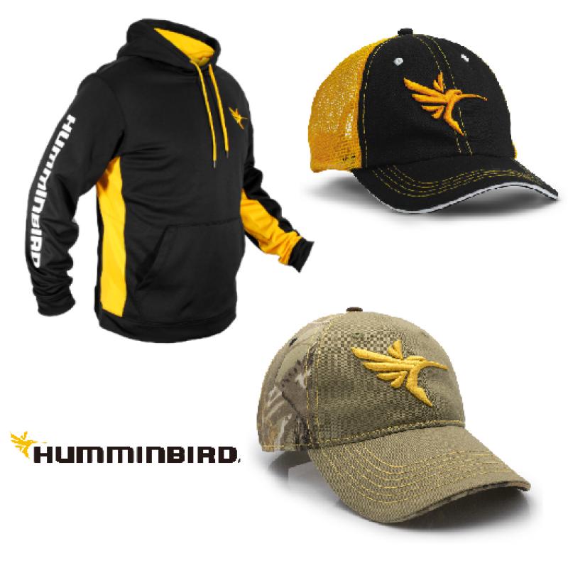 Humminbird kepurėlės, drabužiai