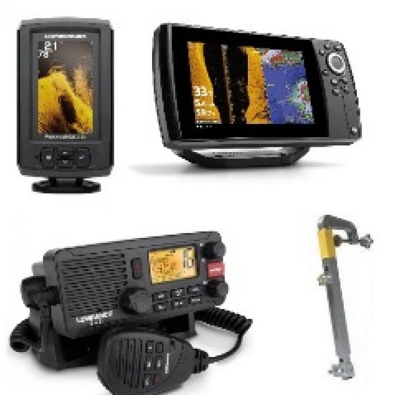 Echolotai, GPS navigacijos, radijo stotelės, dalys ir priedai