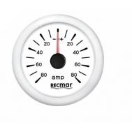 Ampermetras baltas iki 80 amp