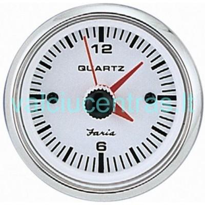 FARIA QUARTZ Laikrodis baltas