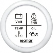 4 įspėjamosios prietaisų skydelio lemputės
