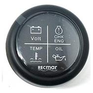 4 įspėjamosios prietaisų skydelio lemputės juoda
