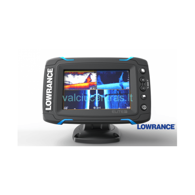 Echolotas Lowrance Elite-7 Ti Mid/High/TotalScan