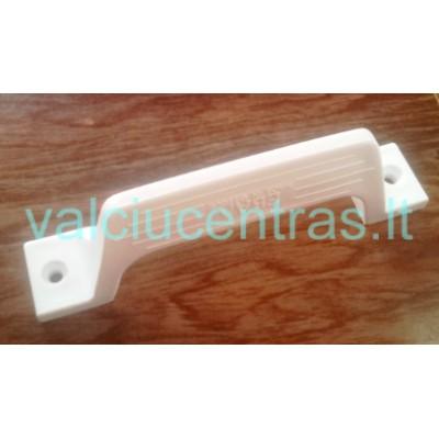 Tvirto plastiko balta rankenėlė 160 mm